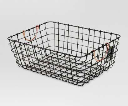 wire basket storage solutions This undated provided by Target show a pewter wire basket with copper handles which brings some Wire Basket Storage Solutions Brilliant This Undated Provided By Target Show A Pewter Wire Basket With Copper Handles Which Brings Some Images