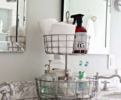 wire basket towel storage 2 tiered wire basket stand, bathroom organization-www.goldenboysandme.com Wire Basket Towel Storage Perfect 2 Tiered Wire Basket Stand, Bathroom Organization-Www.Goldenboysandme.Com Pictures