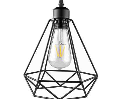 Wire Cage Pendant Light Australia Practical Industrial Vintage Diamond Cage Pendant Light Shade (E27 Socket AC 85-240V; Bulb, Included) Collections