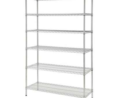 wire chrome heavy duty shelving HDX 48, W x 72, H x 18, D Decorative Wire Chrome Heavy Duty Shelving Unit 15 Nice Wire Chrome Heavy Duty Shelving Pictures