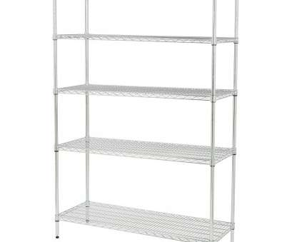 wire chrome heavy duty shelving Full Size of Shelves, Heavy duty chrome shelving unit leveling feet features 5 shelves steel Wire Chrome Heavy Duty Shelving Most Full Size Of Shelves, Heavy Duty Chrome Shelving Unit Leveling Feet Features 5 Shelves Steel Ideas