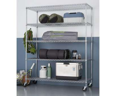 wire chrome heavy duty shelving TRINITY 5-Tier Heavy Duty Wire 60, x 24, x 72, Shelving Rack with Wheels in Chrome Wire Chrome Heavy Duty Shelving Most TRINITY 5-Tier Heavy Duty Wire 60, X 24, X 72, Shelving Rack With Wheels In Chrome Photos