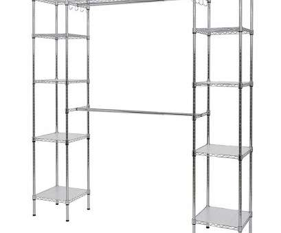 Wire Closet Shelving Depth Fantastic Muscle Rack 14, D X 55, W X 72, H Chrome Wire 10-Shelves 2-Hanger Bars Room Steel Closet System Organizer Galleries