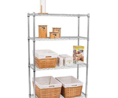 wire closet shelving height 4-Tier Steel Wire Shelving Rack with Adjustable Height Shelves, 2 Colors, UntilGone Wire Closet Shelving Height Brilliant 4-Tier Steel Wire Shelving Rack With Adjustable Height Shelves, 2 Colors, UntilGone Galleries