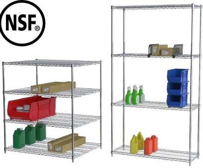 wire closet shelving height CHROME WIRE SHELVING STARTER UNITS, Size, W: 18 x 24