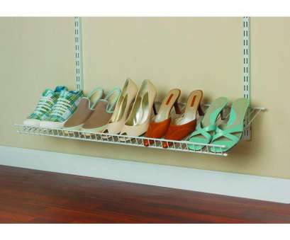 wire closet shelving for shoes ClosetMaid ShelfTrack 5-Pair Ventilated Wire Shoe Shelf Kit-2846 at, Home Depot Wire Closet Shelving, Shoes Perfect ClosetMaid ShelfTrack 5-Pair Ventilated Wire Shoe Shelf Kit-2846 At, Home Depot Pictures