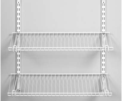 wire closet shelving for shoes Rubbermaid Homefree Series 4-ft Adjustable Mount Wire Shelving Kits Wire Closet Shelving, Shoes Most Rubbermaid Homefree Series 4-Ft Adjustable Mount Wire Shelving Kits Collections