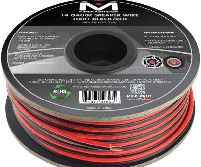 wire gauge 14 awg Speaker Wire, True 14AWG, In-Home Or, Stereo, Low-Loss Copper Clad Aluminum, Gauge, 100 Feet) Wire Gauge 14 Awg Most Speaker Wire, True 14AWG, In-Home Or, Stereo, Low-Loss Copper Clad Aluminum, Gauge, 100 Feet) Solutions