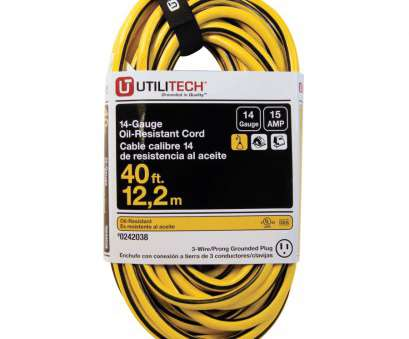 wire gauge 15 amps Utilitech 40 ft 15, 14 Gauge Yellow/Black Outdoor Extension Cord Wire Gauge 15 Amps Simple Utilitech 40 Ft 15, 14 Gauge Yellow/Black Outdoor Extension Cord Images