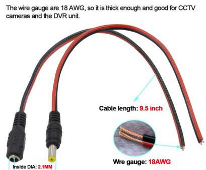 wire gauge 18 awg Amazon.com : [Real 18AWG 43x2pcs Wires] 10 Pairs DC Power Pigtail Cable,, 5A Male & Female Connectors, CCTV Security Camera, Lighting Power Adapter 17 Popular Wire Gauge 18 Awg Collections