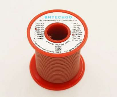 wire gauge 18 awg Get Quotations · BNTECHGO 18 Gauge Silicone Wire 50 Feet Spool Brown Soft, Flexible High Temperature Resistant Highly Wire Gauge 18 Awg New Get Quotations · BNTECHGO 18 Gauge Silicone Wire 50 Feet Spool Brown Soft, Flexible High Temperature Resistant Highly Solutions