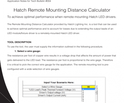 wire gauge calculator for distance App notes- Remote Mounting Wire Gauge Calculator, Distance Professional App Notes- Remote Mounting Pictures