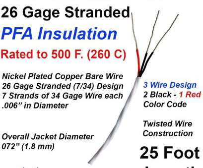 wire gauge chart diameter stranded RTD Extension Wire 26 Gage Stranded 3-Wire Design, Insulated 25 ft Long 12 Fantastic Wire Gauge Chart Diameter Stranded Ideas