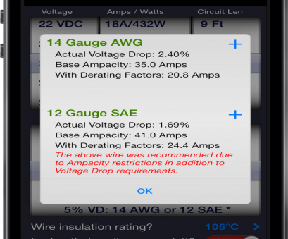 wire gauge dc voltage drop calculator It's important to, properly sized wire. Undersized wire, lead to equipment malfunction or failure,, oversized wire will, to cost, can be Wire Gauge Dc Voltage Drop Calculator Brilliant It'S Important To, Properly Sized Wire. Undersized Wire, Lead To Equipment Malfunction Or Failure,, Oversized Wire Will, To Cost, Can Be Pictures