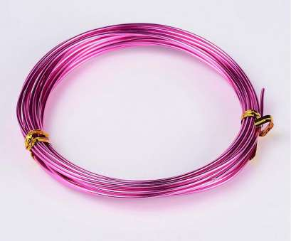 wire gauge 1.5 mm Fuschia Pink Aluminum Wire, 1.5mm thickness, gauge, Pink Jewelry Making Wire roll Wire Gauge, Mm Nice Fuschia Pink Aluminum Wire, 1.5Mm Thickness, Gauge, Pink Jewelry Making Wire Roll Images