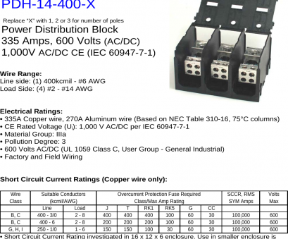 wire gauge amp rating dc Instructions –Data Sheet, 14, X S Ilsco Reference Power Distribution Block Product Data Sheets Wire Gauge, Rating Dc Nice Instructions –Data Sheet, 14, X S Ilsco Reference Power Distribution Block Product Data Sheets Pictures