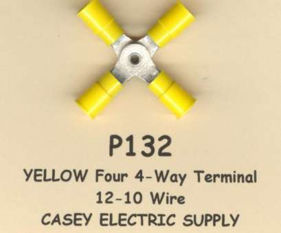 wire gauge thickness for 10 Yellow Insulated Four 4-way Terminal Connectors #12-10 Wire Gauge, Molex Wire Gauge Thickness For Simple 10 Yellow Insulated Four 4-Way Terminal Connectors #12-10 Wire Gauge, Molex Photos