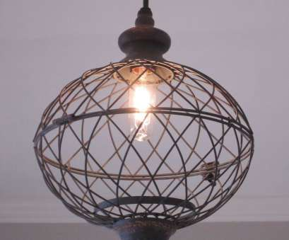 wire globe pendant light New meets vintage style! Just like, small version! Made with a weathered, distressed black metal wire that looks like it is an antique 12 Cleaver Wire Globe Pendant Light Solutions