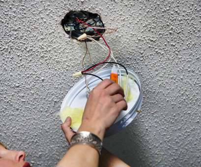 wire in a ceiling light How to Replace a Light Fixture With a Ceiling Fan, how-tos, DIY Wire In A Ceiling Light Practical How To Replace A Light Fixture With A Ceiling Fan, How-Tos, DIY Images