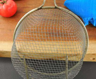 wire mesh basket uses SOLD... Tinned Wire Mesh, Basket Insert, Verticle Handle -, With Vintage Cast Iron, Pan 15 Simple Wire Mesh Basket Uses Images