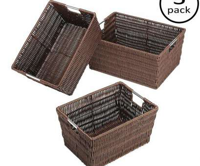 wire mesh baskets canada Storage Tote Collection 14.75, x 6.50, Rattique Storage Baskets in Java (Set of 3) Wire Mesh Baskets Canada Top Storage Tote Collection 14.75, X 6.50, Rattique Storage Baskets In Java (Set Of 3) Photos