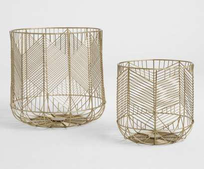 wire mesh baskets cape town Gold Wire Geometric Reese Baskets, Small by World Market Wire Mesh Baskets Cape Town Nice Gold Wire Geometric Reese Baskets, Small By World Market Ideas
