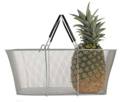 wire mesh baskets for plants Wire Shopping Baskets, 16 1/2