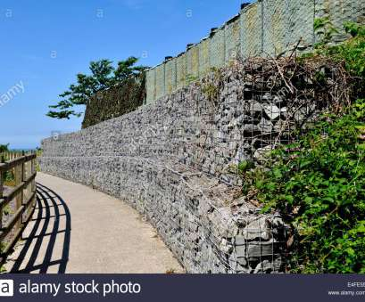 wire mesh baskets retaining walls Embankment retaining wall constructed with gabion wire mesh baskets filled with rock with bastion boxes at top, Aberporth, Wales 20 Simple Wire Mesh Baskets Retaining Walls Galleries