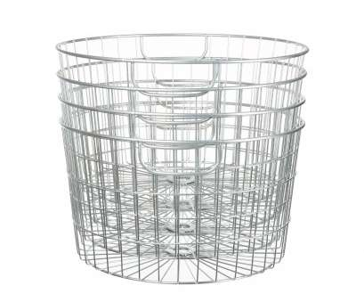 Wire Mesh Baskets Walmart Top Mainstays 4 Pack Silver Round Wire Baskets Walmart, Rh Walmart, Tall Wire Basket Large Wire Baskets Collections