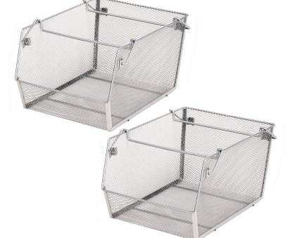 wire mesh baskets with lid Amazon.com: Seville Classics Mesh Stacking, (2-Pack), Large: Home & Kitchen Wire Mesh Baskets With Lid Brilliant Amazon.Com: Seville Classics Mesh Stacking, (2-Pack), Large: Home & Kitchen Pictures