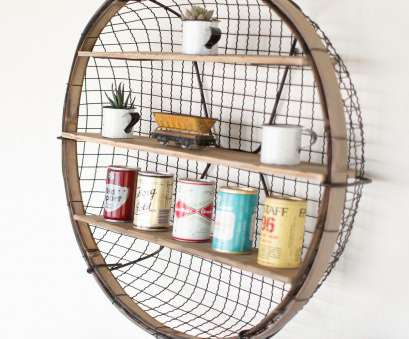 wire mesh bread baskets Why We Love It Unique saucer style wall mount book, display shelf More Information Dimensions: 30