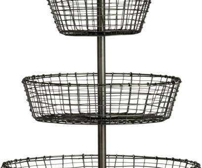wire mesh dipping basket Tiered display, serving baskets, handcrafted of iron wire in a distinctive rustic