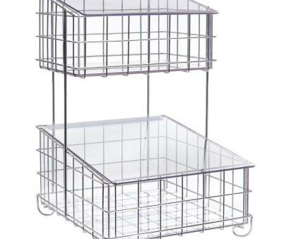 wire mesh display baskets Cal-Mil 2-Tier Chrome Wire, Acrylic Display Basket -, x 16W Wire Mesh Display Baskets Top Cal-Mil 2-Tier Chrome Wire, Acrylic Display Basket -, X 16W Collections