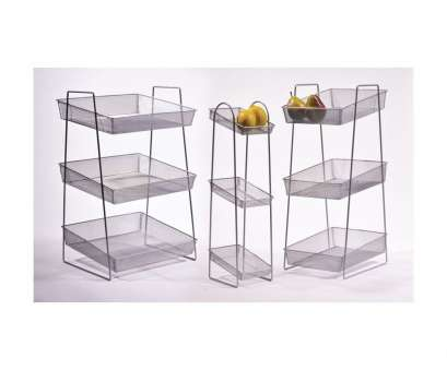 wire mesh display baskets G.E.T. WB1-3TIER 15-3/4 x 13-1/2