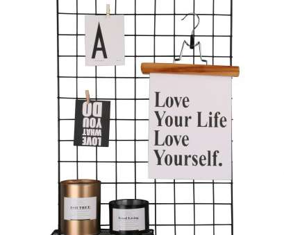 wire mesh display panels singapore Kufox Multifunction Metal Mesh Grid Panel,Wall Decor/Photo Wall/Wall, Display Organizer,Pack of 2 Pcs,Size:25.6