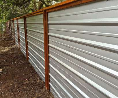 wire mesh fencing panels australia A galvanized corrugated metal fence creates a clean modern edge to Wire Mesh Fencing Panels Australia Practical A Galvanized Corrugated Metal Fence Creates A Clean Modern Edge To Solutions