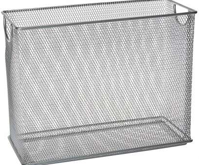 wire mesh filing baskets Tabletop Mesh File Organizer, Silver in File Storage Boxes 8 Professional Wire Mesh Filing Baskets Collections