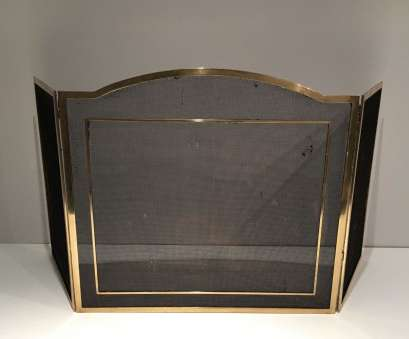 wire mesh fire screen Brass & Wire Mesh Fireplace Screen, 1960s Wire Mesh Fire Screen Professional Brass & Wire Mesh Fireplace Screen, 1960S Pictures