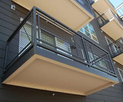 wire mesh handrail panels Panels of Banker Wire aluminum mesh with 2