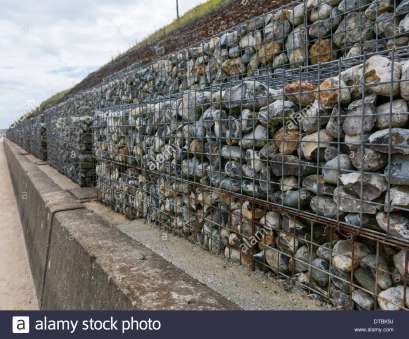 wire mesh rock baskets Gabions wire filled mesh cages filled with rock, pebbles to help as, defenses on Wire Mesh Rock Baskets Brilliant Gabions Wire Filled Mesh Cages Filled With Rock, Pebbles To Help As, Defenses On Photos