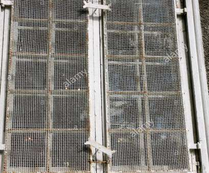 wire mesh security door multi pane window with steel wire mesh security cover brick wall white paint, Stock Image Wire Mesh Security Door Cleaver Multi Pane Window With Steel Wire Mesh Security Cover Brick Wall White Paint, Stock Image Pictures