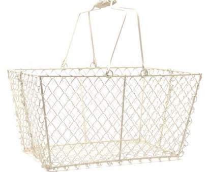 wire mesh shopping baskets Wire Rectangular Mesh with Swing Handle, Cream, Lucky Clover Wire Mesh Shopping Baskets Perfect Wire Rectangular Mesh With Swing Handle, Cream, Lucky Clover Collections