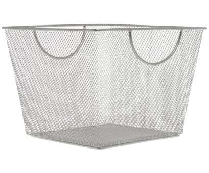 Wire Mesh Tote Baskets Creative Design Ideas Large Silver Metal Mesh Storage Basket, 11 1/2L X 10 1/2W, 1/2H Images