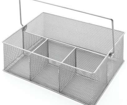 wire mesh tote baskets TOTE, MESH, 4-COMP, SILVER 10X7X9 Wire Mesh Tote Baskets Simple TOTE, MESH, 4-COMP, SILVER 10X7X9 Collections