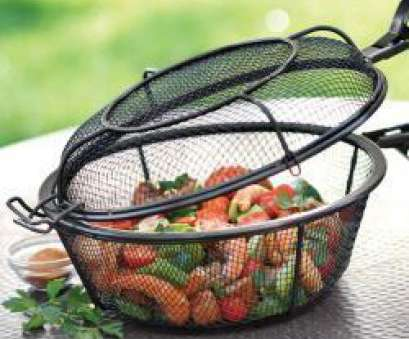 wire mesh vegetable baskets 11-Inch Diameter Jumbo Non-Stick 3-In-1 Chef's Grill Basket Wire Mesh Vegetable Baskets Brilliant 11-Inch Diameter Jumbo Non-Stick 3-In-1 Chef'S Grill Basket Solutions