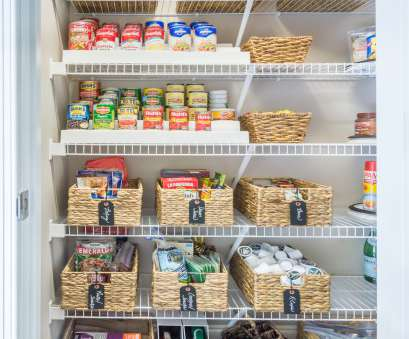 wire pantry shelving Organized pantry before, after, tiny closets with wire shelving Wire Pantry Shelving Professional Organized Pantry Before, After, Tiny Closets With Wire Shelving Solutions