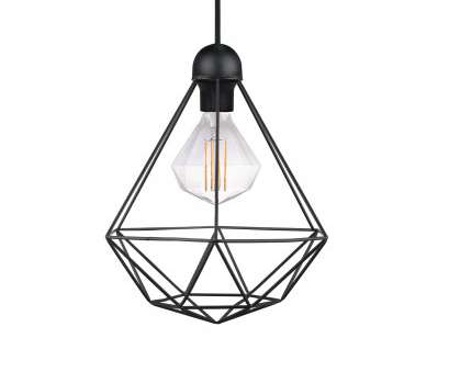 Wire Pendant Lamp Fantastic Tees Geometric Cage Wire Pendant Light, Black Ideas