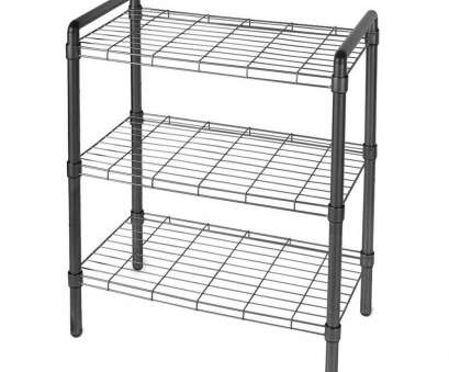 wire rack book shelf The, of Storage 23, 3 Tier Adjustable Wire Shelving with Extra Connectors, Stacking Black Wire Rack Book Shelf Top The, Of Storage 23, 3 Tier Adjustable Wire Shelving With Extra Connectors, Stacking Black Pictures