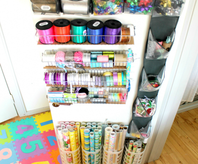 wire rack ribbon storage 33 Ways To Organize Your Gift Wrapping Essentials Wire Rack Ribbon Storage Fantastic 33 Ways To Organize Your Gift Wrapping Essentials Collections