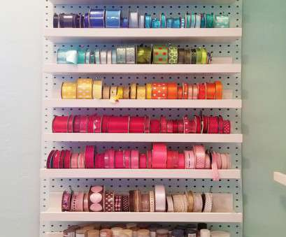 wire rack ribbon storage Ribbon storage on a wall: ribbon spools, be, on shelves on a pegboard Wire Rack Ribbon Storage Perfect Ribbon Storage On A Wall: Ribbon Spools, Be, On Shelves On A Pegboard Images